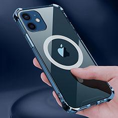 Silikon Hülle Handyhülle Ultradünn Tasche mit Mag-Safe Magnetic Magnetisch Durchsichtig Transparent für Apple iPhone 12 Klar