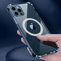Silikon Hülle Handyhülle Ultradünn Tasche mit Mag-Safe Magnetic Magnetisch Durchsichtig Transparent für Apple iPhone 12 Pro Klar