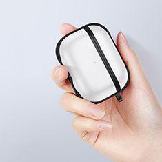 Silikon Hülle Handyhülle und Kunststoff Schutzhülle Hartschalen Tasche für Apple AirPods Pro Schwarz