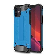Silikon Hülle Handyhülle und Kunststoff Schutzhülle Hartschalen Tasche für Apple iPhone 12 Hellblau