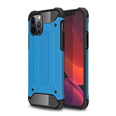 Silikon Hülle Handyhülle und Kunststoff Schutzhülle Hartschalen Tasche für Apple iPhone 12 Pro Max Hellblau