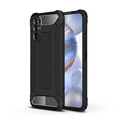 Silikon Hülle Handyhülle und Kunststoff Schutzhülle Hartschalen Tasche für Huawei Honor 30 Schwarz