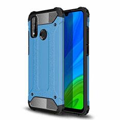 Silikon Hülle Handyhülle und Kunststoff Schutzhülle Hartschalen Tasche für Huawei P Smart (2020) Hellblau