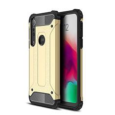 Silikon Hülle Handyhülle und Kunststoff Schutzhülle Hartschalen Tasche für Motorola Moto G8 Play Gold
