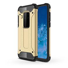 Silikon Hülle Handyhülle und Kunststoff Schutzhülle Hartschalen Tasche für Motorola Moto One Zoom Gold