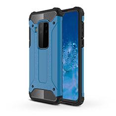 Silikon Hülle Handyhülle und Kunststoff Schutzhülle Hartschalen Tasche für Motorola Moto One Zoom Hellblau
