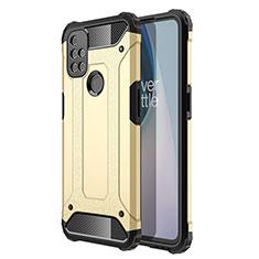 Silikon Hülle Handyhülle und Kunststoff Schutzhülle Hartschalen Tasche für OnePlus Nord N10 5G Gold