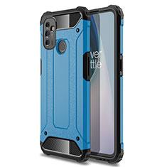 Silikon Hülle Handyhülle und Kunststoff Schutzhülle Hartschalen Tasche für OnePlus Nord N100 Hellblau
