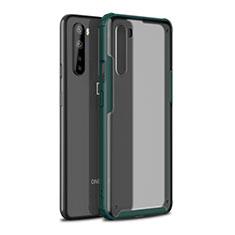 Silikon Hülle Handyhülle und Kunststoff Schutzhülle Hartschalen Tasche für OnePlus Nord Nachtgrün