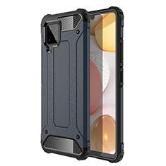 Silikon Hülle Handyhülle und Kunststoff Schutzhülle Hartschalen Tasche für Samsung Galaxy A42 5G Königs Blau