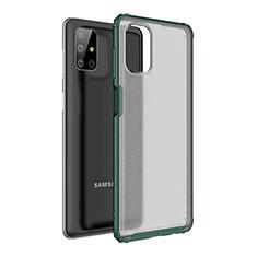 Silikon Hülle Handyhülle und Kunststoff Schutzhülle Hartschalen Tasche für Samsung Galaxy M51 Grün