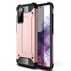 Silikon Hülle Handyhülle und Kunststoff Schutzhülle Hartschalen Tasche für Samsung Galaxy S20 FE 5G Rosegold