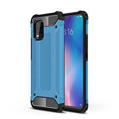 Silikon Hülle Handyhülle und Kunststoff Schutzhülle Hartschalen Tasche für Xiaomi Mi 10 Lite Hellblau