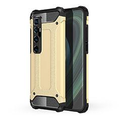 Silikon Hülle Handyhülle und Kunststoff Schutzhülle Hartschalen Tasche für Xiaomi Mi 10 Ultra Gold