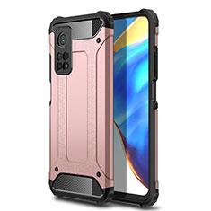 Silikon Hülle Handyhülle und Kunststoff Schutzhülle Hartschalen Tasche für Xiaomi Mi 10T Pro 5G Rosegold