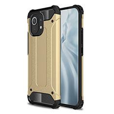 Silikon Hülle Handyhülle und Kunststoff Schutzhülle Hartschalen Tasche für Xiaomi Mi 11 5G Gold