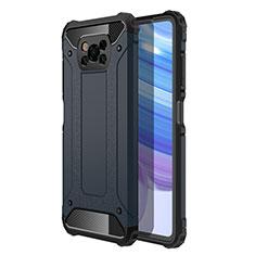 Silikon Hülle Handyhülle und Kunststoff Schutzhülle Hartschalen Tasche für Xiaomi Poco X3 NFC Königs Blau