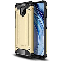 Silikon Hülle Handyhülle und Kunststoff Schutzhülle Hartschalen Tasche für Xiaomi Redmi Note 9 Pro Gold