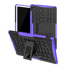 Silikon Hülle Handyhülle und Kunststoff Schutzhülle Hartschalen Tasche mit Ständer A01 für Samsung Galaxy Tab S5e Wi-Fi 10.5 SM-T720 Violett