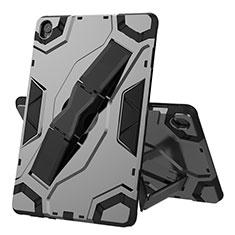 Silikon Hülle Handyhülle und Kunststoff Schutzhülle Hartschalen Tasche mit Ständer A02 für Huawei MediaPad M6 10.8 Schwarz