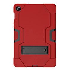 Silikon Hülle Handyhülle und Kunststoff Schutzhülle Hartschalen Tasche mit Ständer A03 für Samsung Galaxy Tab S5e 4G 10.5 SM-T725 Rot