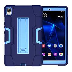 Silikon Hülle Handyhülle und Kunststoff Schutzhülle Hartschalen Tasche mit Ständer für Huawei MediaPad M6 10.8 Blau