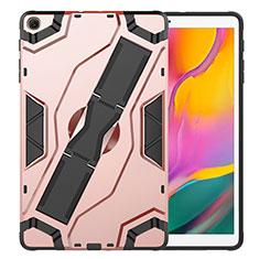 Silikon Hülle Handyhülle und Kunststoff Schutzhülle Hartschalen Tasche mit Ständer für Samsung Galaxy Tab S5e Wi-Fi 10.5 SM-T720 Rosegold