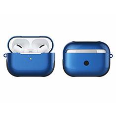 Silikon Hülle Handyhülle und Kunststoff Schutzhülle Hartschalen Tasche U01 für Apple AirPods Pro Blau