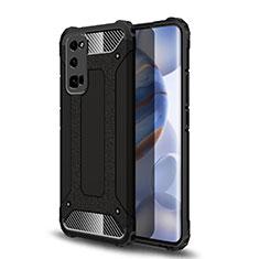Silikon Hülle Handyhülle und Kunststoff Schutzhülle Hartschalen Tasche U01 für Huawei Honor 30 Pro Schwarz