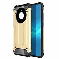 Silikon Hülle Handyhülle und Kunststoff Schutzhülle Hartschalen Tasche U01 für Huawei Mate 40 Pro+ Plus Gold