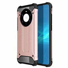 Silikon Hülle Handyhülle und Kunststoff Schutzhülle Hartschalen Tasche U01 für Huawei Mate 40 Pro+ Plus Rosegold