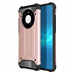 Silikon Hülle Handyhülle und Kunststoff Schutzhülle Hartschalen Tasche U01 für Huawei Mate 40 Rosegold