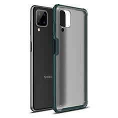 Silikon Hülle Handyhülle und Kunststoff Schutzhülle Hartschalen Tasche U01 für Samsung Galaxy A12 Grün