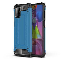 Silikon Hülle Handyhülle und Kunststoff Schutzhülle Hartschalen Tasche U01 für Samsung Galaxy M51 Hellblau