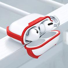 Silikon Hülle Handyhülle und Kunststoff Schutzhülle Hartschalen Tasche U02 für Apple AirPods Pro Rot