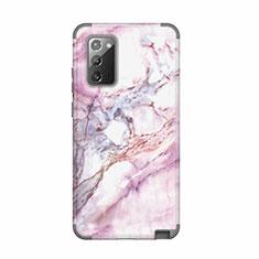 Silikon Hülle Handyhülle und Kunststoff Schutzhülle Hartschalen Tasche Vorder und Rückseite 360 Grad Ganzkörper N02 für Samsung Galaxy Note 20 5G Grau