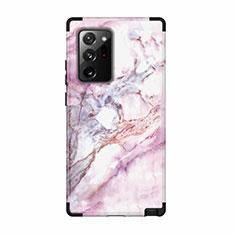 Silikon Hülle Handyhülle und Kunststoff Schutzhülle Hartschalen Tasche Vorder und Rückseite 360 Grad Ganzkörper N02 für Samsung Galaxy Note 20 Ultra 5G Schwarz
