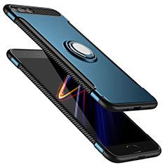 Silikon Hülle Handyhülle und Kunststoff Schutzhülle mit Fingerring Ständer für Xiaomi Mi 6 Blau