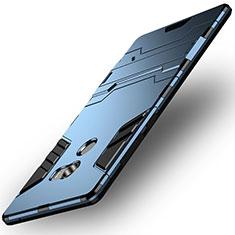 Silikon Hülle Handyhülle und Kunststoff Schutzhülle mit Ständer für Xiaomi Mi Mix Evo Blau