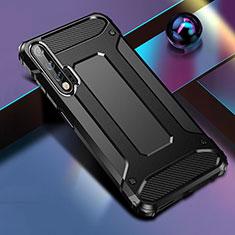 Silikon Hülle Handyhülle und Kunststoff Schutzhülle Tasche für Huawei Nova 6 5G Schwarz