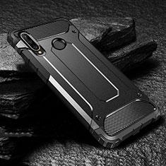 Silikon Hülle Handyhülle und Kunststoff Schutzhülle Tasche für Huawei P30 Lite Schwarz