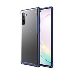 Silikon Hülle Handyhülle und Kunststoff Schutzhülle Tasche für Samsung Galaxy Note 10 5G Blau