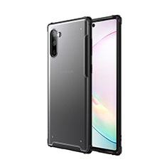 Silikon Hülle Handyhülle und Kunststoff Schutzhülle Tasche für Samsung Galaxy Note 10 5G Schwarz
