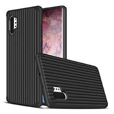 Silikon Hülle Handyhülle und Kunststoff Schutzhülle Tasche für Samsung Galaxy Note 10 Plus Schwarz