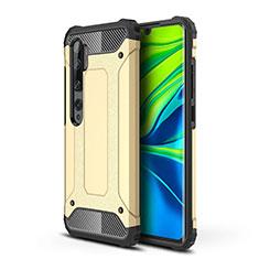 Silikon Hülle Handyhülle und Kunststoff Schutzhülle Tasche für Xiaomi Mi Note 10 Gold