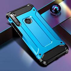 Silikon Hülle Handyhülle und Kunststoff Schutzhülle Tasche für Xiaomi Redmi Note 8 Blau