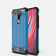 Silikon Hülle Handyhülle und Kunststoff Schutzhülle Tasche für Xiaomi Redmi Note 8 Pro Blau