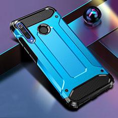 Silikon Hülle Handyhülle und Kunststoff Schutzhülle Tasche K01 für Huawei Honor 20 Lite Blau