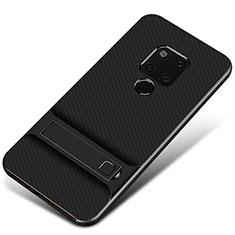 Silikon Hülle Handyhülle und Kunststoff Schutzhülle Tasche M01 für Huawei Mate 20 Schwarz