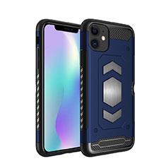 Silikon Hülle Handyhülle und Kunststoff Schutzhülle Tasche Magnetisch für Apple iPhone 11 Blau